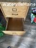 Wooden 2 drawer cabinet